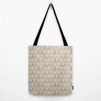 """Fingertips"" (Yellow/Grey) Tote bag. Artwork Copyright 2031 Robyn Bockamnn"