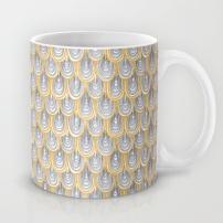 """Fingertips"" (Yellow/Grey) Mug. Artwork Copyright 2013 Robyn Bockmann"