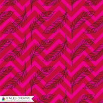"""Chevron Feathers Pink"" print design. Copyright Robyn Bockmann 2014."
