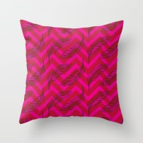 Chevron Feathers in Hot pink & contrasting Red. COPYRIGHT 2014 Robyn Bockmann