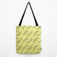 Chevron Feathers in Yellow - Tote bag COPYRIGHT 2014 Robyn Bockmann