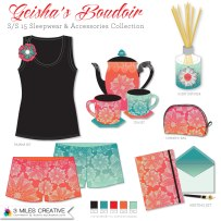 """Geisha's Boudoir"" product mock up. Copyright Robyn Bockmann 2014."
