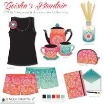 """Geisha's Boudoir"" product mock up. Copyright Robyn Bockmann 2014."