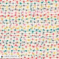 """Handrawn Dots"" print design. Copyright Robyn Bockmann 2014."