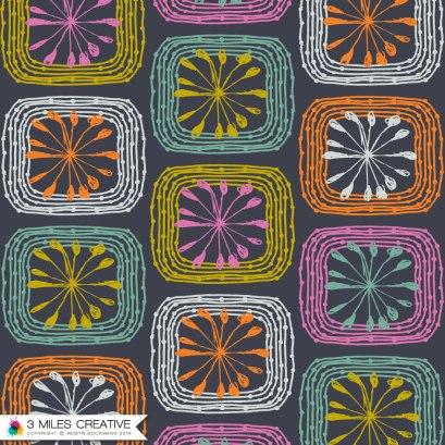 """Harvest Quilt"" print repeat. Copyright Robyn Bockmann 2014."