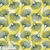 """Yellow Bush Blooms"" print design. Copyright Robyn Bockmann 2014."